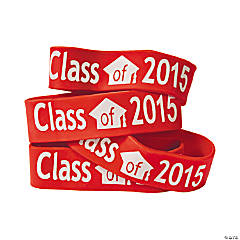 Red Class of 2015 Big Band Bracelets