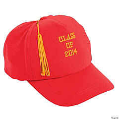 Red Class of 2014 Graduation Baseball Cap