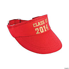 Red Class of 2014 Graduation Visors