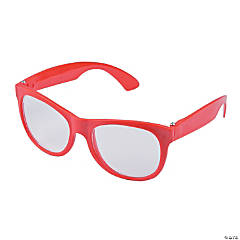 Red Clear Lens Glasses