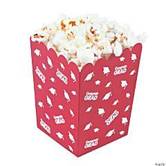 Red Congrats Grad Popcorn Boxes
