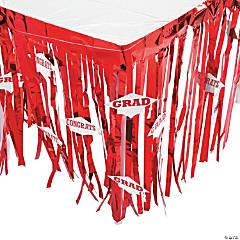 Red Congrats Grad Table Skirt