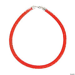 Red Crinoline Necklace Craft Kit