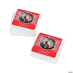 Red Custom Photo Square Containers