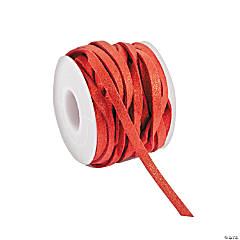 Red Faux Leather Cording