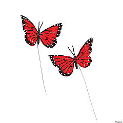 Red Feather Butterflies