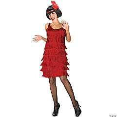 Red Flapper Costume for Women
