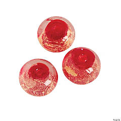 Red Foil Beads - 13mm