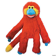 Red Funky Monkey Plush Puppet