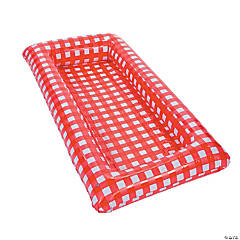 Red Gingham Inflatable Buffet