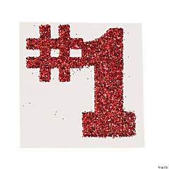 #1 Red Glitter Tattoo Stickers