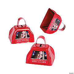Red Graduation Custom Photo Cowbells