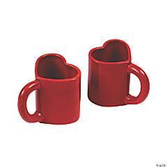 Red Heart Ceramic Mugs
