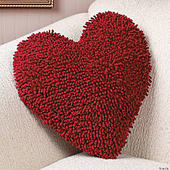 Red Heart Chenille Pillow