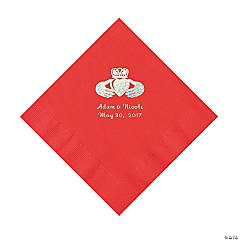 Red Irish Personalized Napkins - Luncheon