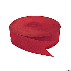 Red Jumbo Paper Streamers