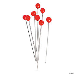 Red Lampwork Headpins