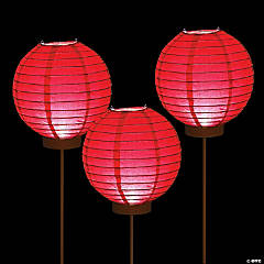 Red Light-Up Paper Lantern Balloons