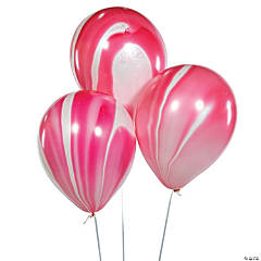 "Red Marble 11"" Latex Balloons"