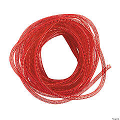 Red Mesh Tube Ribbon
