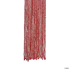 Red Metallic Bead Necklaces