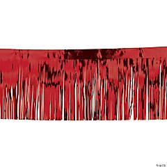 Red Metallic Fringe