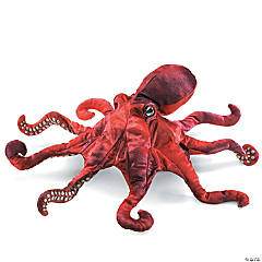 Red Octopus Hand Puppet