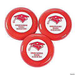 Red Personalized Graduation Mini Discs