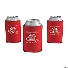 Red Personalized Movie Night Can Coolers