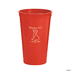 Red Personalized Prom Couple Tumblers