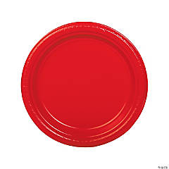 Red Plastic Dinner Plates