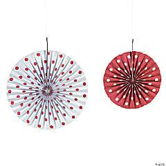 Red Polka Dot Hanging Fans