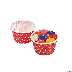 Red Polka Dot Snack Cups
