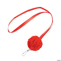 Red Pom-Pom Lanyards