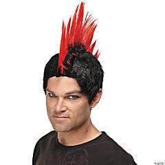 Red Punk Rocker Wig