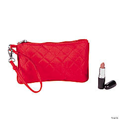 Red Quilted Wristlet Purse