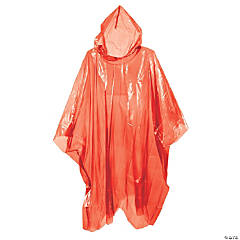 Red Rain Ponchos for Adults