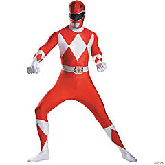 Red Ranger Bodysuit Costume For Men