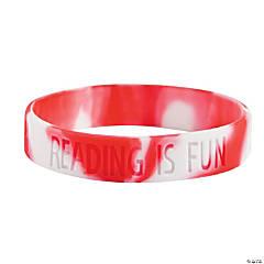 Red Reading Is Fun Rubber Bracelets