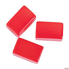 Red Rectangle Beads - 15mm
