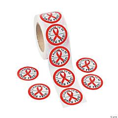 Red Ribbon Week Sticker Rolls