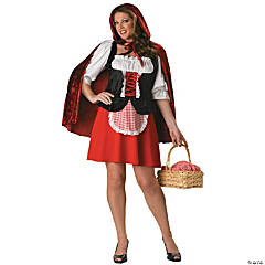 Red Riding Hood Plus Size Adult Women's Costume