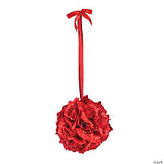 Red Rose Pomander Kissing Ball