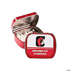Red School Spirit Custom Photo Mint Tins