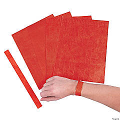 Red Self-Adhesive Wristbands