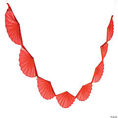 Red Semi Fanburst Garland