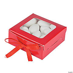 Red Shadow Favor Boxes