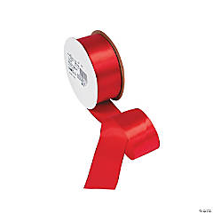 Red Single Faced Satin Ribbon - 1 1/2