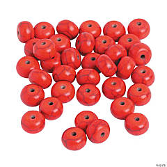 Red Spacer Beads