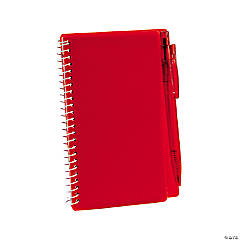 Red Spiral Notebooks with Pens